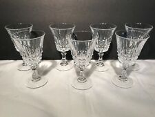 Val St Lambert GLENDALE (7) Cordial Glasses rare excellent condition