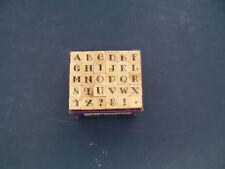 mini studio G alphabet stamp set capital letters NOS