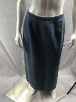 Eddie Bauer Modest Denim Blue Long Skirt Size 8
