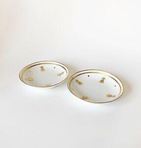 Trinket dish gold trim LImoges France gift Vintage ring holder Made in France French Porcelain trinket holder Limoges ring dish