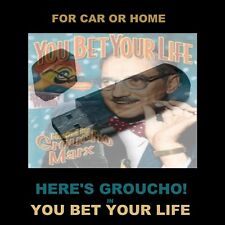 ENJOY GROUCHO IN 'YOU BET YOUR LIFE'.  214 OLD TIME RADIO SHOWS FOR CAR OR HOME!