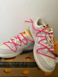 Nike Dunk Low Off-White 1 Of 50 Lot. 17 Shoes US8.5 Authentic From JAPAN *10014