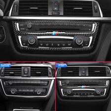 Carbon Fiber Air Condition Media Control Panel Trims For BMW 3 4 Series F30 F33