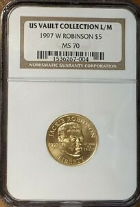 1997 W $5 Gold Commemorative Jackie Robinson NGC MS 70 FREE SHIPPING
