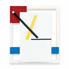NEW MoMA DE STIJL MODERN CONTEMPORARY WALL CLOCK Mondrian DESIGN