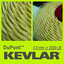 KEVLAR DuPont RAW YELLOW 2000LB 3.5mm 500FT 152M LINE BRAIDED WIRE KITE FISHING