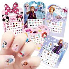 Disney Makeup Nail Stickers For Girl Designer Toys Cartoon Anime Frozen Princess