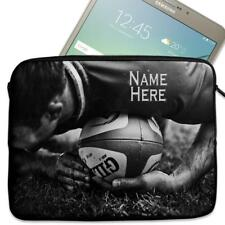 "Personalised Tablet Case RUGBY Neoprene Sleeve Cover 7"" 8"" 9"" 10"" ST476"
