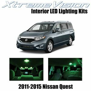 XtremeVision Interior LED for Nissan Quest 2011-2015 (8 PCS) Green