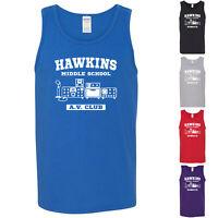Hawkins Middle School A.V. Club Stranger Things Merch Mens Tank Tops