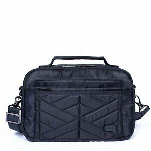 New Lug Travel SCOOP Crossbody Shoulder RFID  Bag Quilted MIDNIGHT BLACK gift