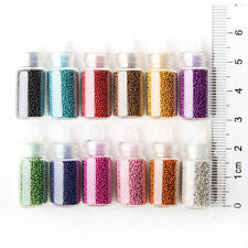 Lot de 12 petite Fioles Caviar Nail Art Decoration Manucure Micro Billes Gel Uv