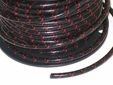 Black woven cotton covered Spark Plug Wire 7mm stranded copper Core By The Foot