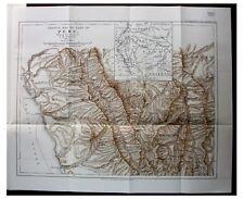 1905 Markham - ENOCK - Peru - ANCIENT INCA RUINS - Cordillera - COLOR MAP - 6