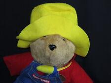 PADDINGTON TEDDY BEAR SEARS PLUSH CRAFTSMAN TOOL HAT SAILOR PLUSH STUFFED ANIMAL