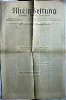 RHEINZEITUNG 26./27. Nov 1949 mit 8 Seiten Bäder Rheinland-Pfalz +Collie Werbung