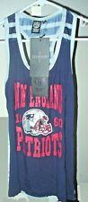 Rare NFL Team Apparel New England Patriots 1960 throwback ladies tank top size M