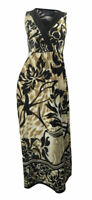 Debenhams Julien MacDonald coffee & bold black print stretchy sleeveless maxi dr