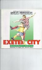 Exeter City Division 3 Home Teams C-E Football Programmes