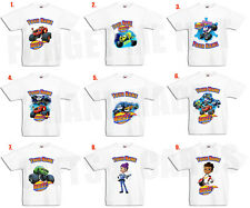 Blaze And The Monster Machines Personalised Kids T Shirt 9 DESIGNS 3mth to 13yrs