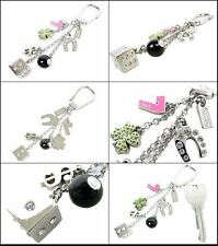 NWT Coach Pave Lucky Mix Purse Charm Key Fob Chain Ring 92784 Clover Dice 8 Ball