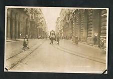 C1930s View of a Tram & People on Via Roma (Main Street) - Genoa, Italy