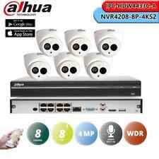Dahua 4K 8CH 8POE NVR4208-8P-4KS2 & 4MP IPC-HDW4433C-A CCTV Camera System