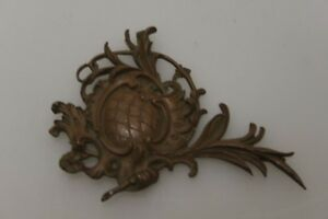 Antique Decorative Element Ornament Blumenmuster Um 1880 Bronze Restoration Book