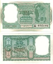 India 5 Rupees (1957) Pick 35a, Uncirculated *Xrare*