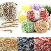 HOT Hand Knitting Fur Yarn Warm Baby Yarn Woven Imitation Mink Feather Yarns