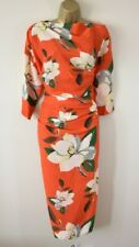 £468 NEW VIVIENNE WESTWOOD SHAMAN 44 Magnolia Floral Silk Blend Party Dress