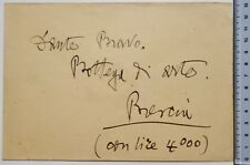 Grande busta autografa Gabriele d'Annunzio inviata a Dante Bravo-Giuseppe Guidi