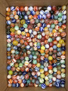 260 Vintage Marbles Lot Peltier NLR, MCS, Rainbos, Clear Based, Tracers