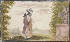 Stammbuchblatt Freundschaftsbild Barockes Paar Orig Aquarell 1790