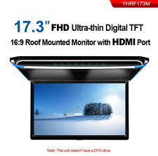 """17.3"""" Screen Car Overhead Ceiling Roof Mount Monitor Flip Down 1080PVideo Player"""