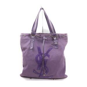 Yves Saint Laurent Tote Bag  Purple Canvas 2201832