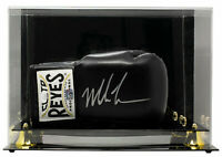 Mike Tyson Signed Right Black Cleto Reyes Boxing Glove w/Case JSA ITP
