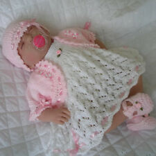 """BABY DOLLS KNITTING PATTERN DESS SET SUITABLE FOR 18 """" DOLLS PREMATURE BABY"""