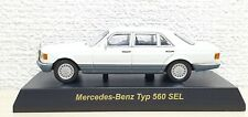1/64 Kyosho MERCEDES BENZ TYPE 560 SEL WHITE diecast car model