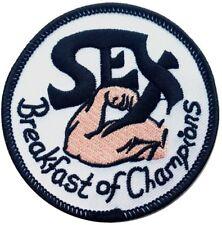 Velc.Sex Breakfast of Champions Cool Funny Biker Hook Fastener Patch 7,6cm