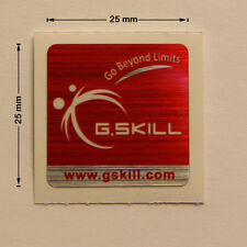G.SKILL Go Beyond Limits Laptop PC Sticker Logo Label Badge Decal 25x25 mm NEW