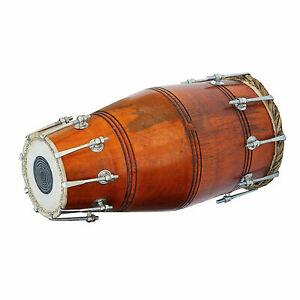 Indisch Musikinstrument Traditionell Wedding-Kirtan Dholak Nut&bolt Mit Cover