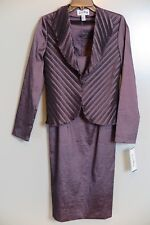 Joseph Ribkoff Mauve Formal Evening Dress & Jacket Size 8