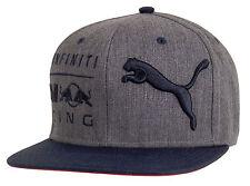 Red Bull Racing Block Snapback Cap Hat, Grey