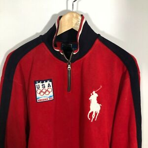 Polo Ralph Lauren Olympics Sweatshirt Pullover Large Big Pony Vancouver 2010
