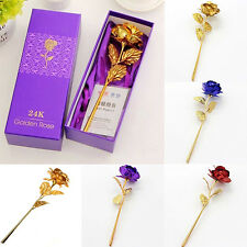 FX- Birthday Wedding Décor Gold Plated Dipped Rose Lover's Flower Love Gift Tru