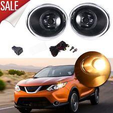 For Nissan Qashqai Rogue Sport Bumper Fog Lights Driving Lamps & Harness & Beze
