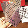 Glitter Bling Clear Hard Back Case Silicone Bumper Cover For iPhone 5 6 7 Plus