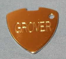 NEW GROVER CHROME METAL GUITAR PICK FOR NECKLACE