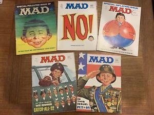 MAD MAGAZINE Vintage Lot Year 1971! #140,141,145,146,147